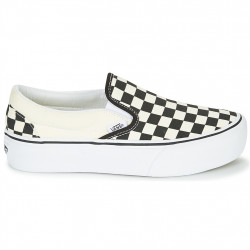 vans checkerboard classic slip-on platform