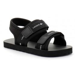 lacoste sandales sol enfant en tissu