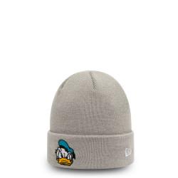 bonnet à revers donald duck character enfants gris